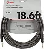 Fender シールドケーブル Professional Series Instrument Cable, 18.6', Gray Tweed