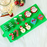BEE&BLUE シリコンモールド クリスマスツリー ワンド ソックス 雪だるま DIY レジンモールド グリーン クッキー型 手作り 製菓 3D 粘土 樹脂 抜き 型 石鹸 ソフト チョコレート型 ケーキデコレーションツール ベーキングツール