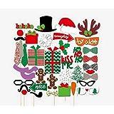 Jixin4you フォトプロップス クリスマス パーティー 誕生日 写真小道具 可愛い 39点セット タイプH