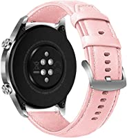 Uywgusag Watch Accessories for 22mm Replacement Faux Leather Watchband Strap for Sam-sung Huawei Smart Watch
