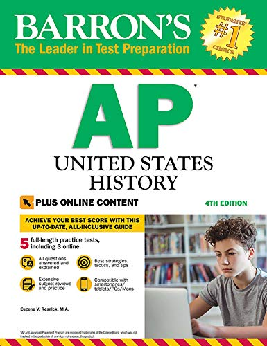 Download AP United States History: With Online Tests (Barron's Test Prep) 1438011083