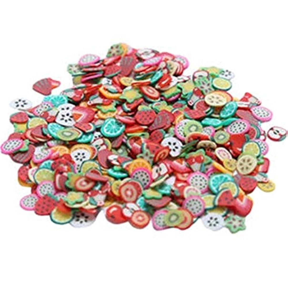 ネイルステッカー ネイルアート 1000個 ネイルデコレーション 多色 フルーツ かわいい オシャレ