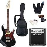 エレキギター ヤマハ PACIFICA311H PAC311H マーシャルアンプ Marshall MG10CF 付属 入門8点セット 初心者セット ハムバッキングピックアップ トレモロレスブリッジ (BL)