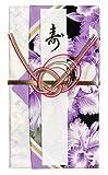ハンカチで出来た御祝儀袋「心込袋」 カトレア 紫キ F-02