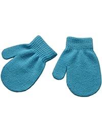 wlgreatsp 少年少女 ソリッドカラー ニットミトン 冬の手袋