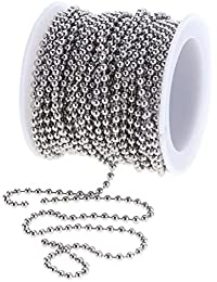 1 Roll 12 Meters Stainless Steel Beads Ball Chain For Crafting DIY Jewelry