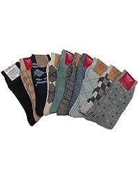 カジュアル靴下(柄)10足 (サイズ 25-27)995 色柄おまかせ