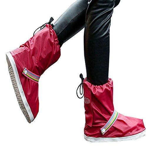 雨用靴カバー 防水シューズカバー  男女兼用 梅雨対策 滑らない靴カバー 全4色 軽量靴カバー (短...