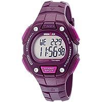 Timex Women's TW5K89700 Ironman Classic 30 Mid-Size Plum Resin Strap Watch