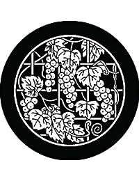 家紋シール 糸輪に葡萄柵紋 布タイプ 直径40mm 6枚セット NS4-1778