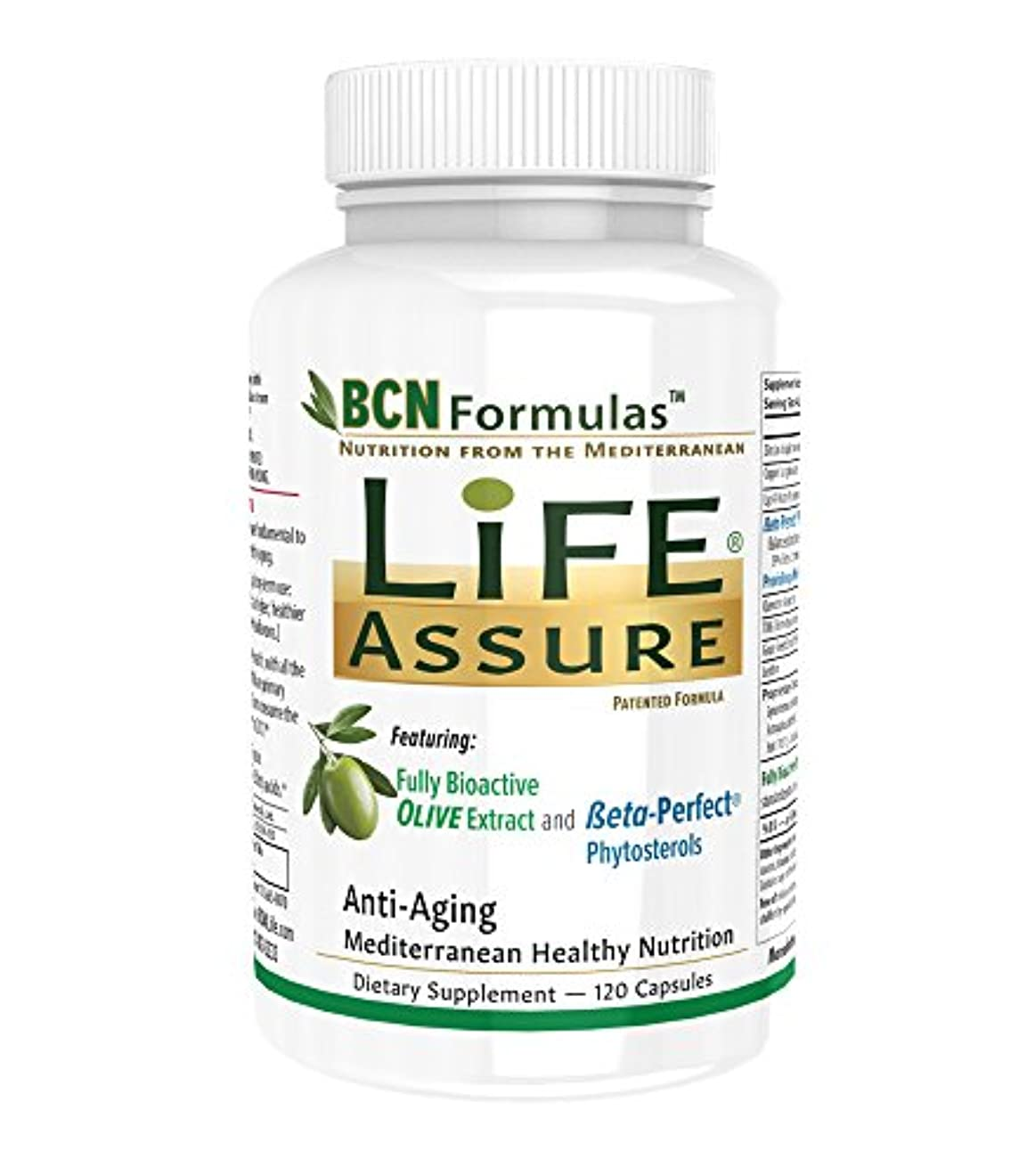 ブロー爪作動するBCN Formulas Life Assure アンチ エイジング フォーミュラ(120カプセル)