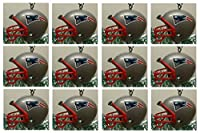 New England Patriots Set of 12 Holiday Christmas Tree Ornaments Featuring Patriots Team Ornaments Ranging from 1.5 to 2 Tall [並行輸入品]