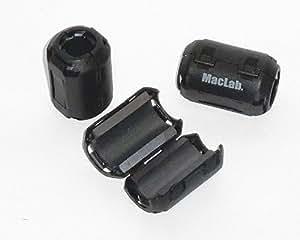 MacLab. フェライトコア 10個セット ~φ13.0 ブラック / 高周波 ノイズ除去