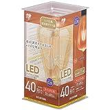 アイリスオーヤマ LED電球 フィラメント 口金直径26mm 40W形相当 キャンドル色 全配光タイプ ST形 レトロ風琥珀調ガラス製 LDF4C-G-FK