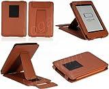 Kindle Paperwhite用レザーケース(オートスリープ機能対応) 茶ブラウン【ネットショップ ロガリズム】KPW03-Br