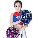 Grandmart ハンドフリー ポンポン チアリーディング 人気 ダンスアクセサリー 運動会 体育祭 ダンス 応援用品 2個組