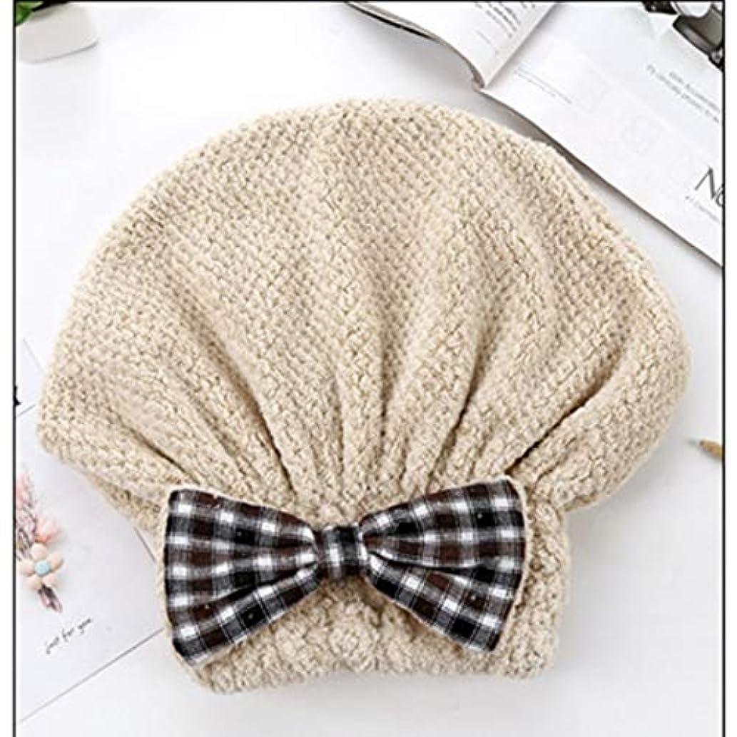 分類フラスコ迫害Swiftgood ヘアタオルラップ、ボタン付きヘアドライヤータオル、マイクロファイバーヘアタオル、乾いた髪の帽子、バスヘアキャップ