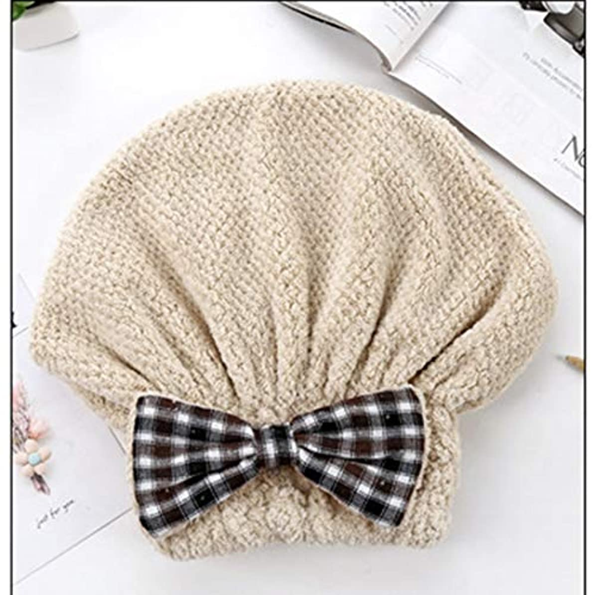 ヒギンズ過去カーフSwiftgood ヘアタオルラップ、ボタン付きヘアドライヤータオル、マイクロファイバーヘアタオル、乾いた髪の帽子、バスヘアキャップ