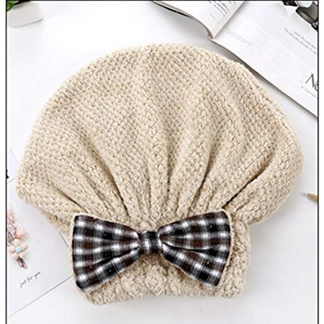 立ち寄る樹皮更新するSwiftgood ヘアタオルラップ、ボタン付きヘアドライヤータオル、マイクロファイバーヘアタオル、乾いた髪の帽子、バスヘアキャップ
