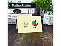 グリーティングカード 1 Pc感謝祭の日のための封筒とカードグリーティングカードありがとう母の日父の日(カラフル)
