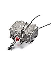 REINDEARプレミアムSacred HeartゴシッククロスメタルネックレスW /ジュエリーボックスUS Seller