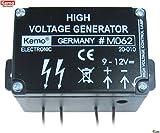 12V=)1000V高電圧生成ジェネレーター。9V~12V電源の電気柵作りに。イノシシ避けに。[a149]