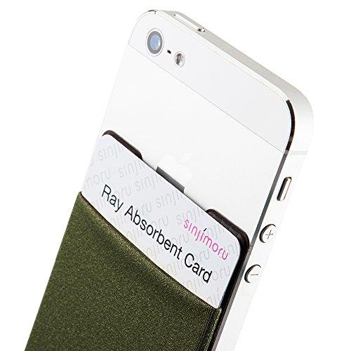 スマホ手帳型ケース+電磁波干渉防止シート 定期入れ、カード入...