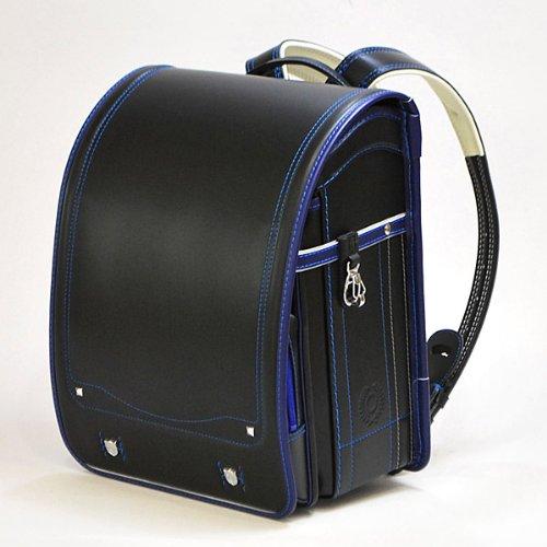 ベネトン  ボーイズ ランドセル クロ×マリン(ブラック×ブルー) A4フラットファイル