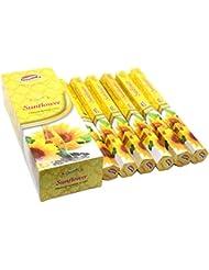 Govinda Incense – Sunflower – 120 Incense Sticks、MasalaコーティングIncense