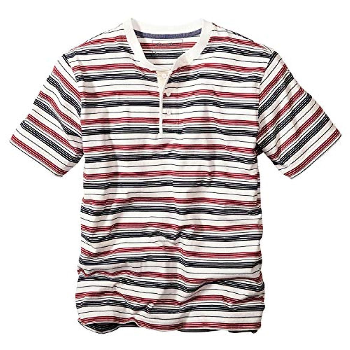 知らせるパトワ透けて見える(エディー?バウアー) Eddie Bauer メンズ 半袖Tシャツ 半袖ヘンリーネックTシャツ
