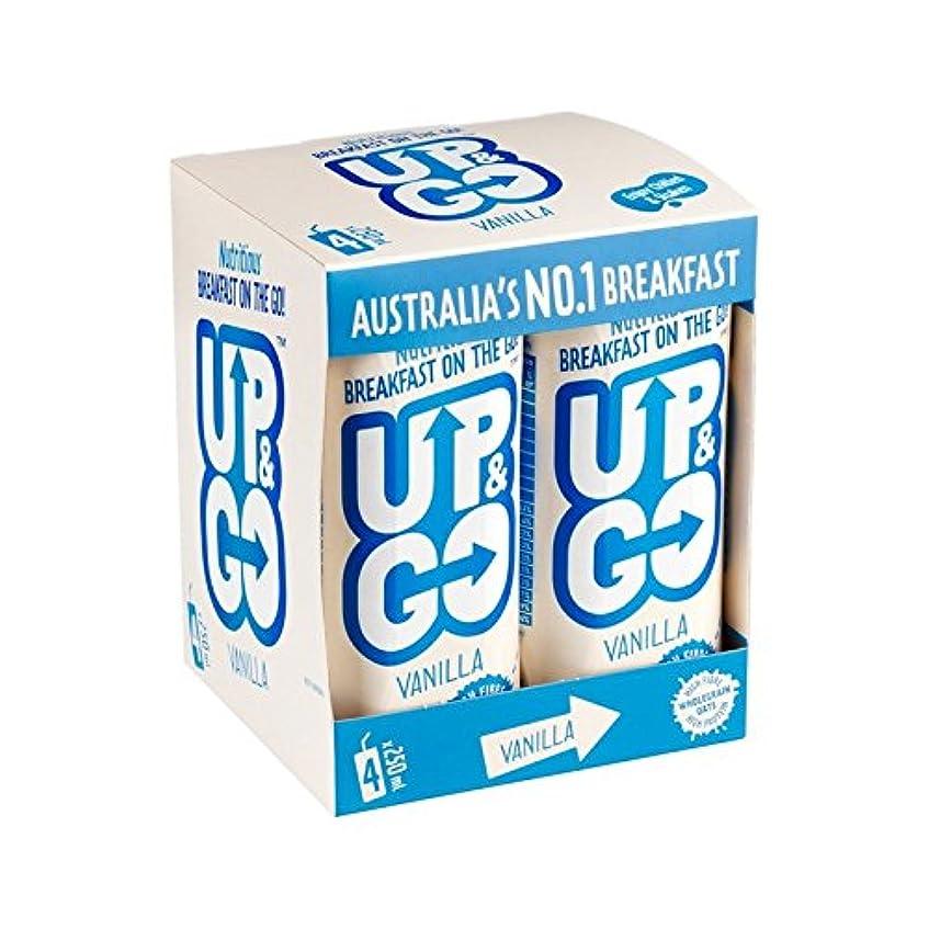 後ろにゴミ準備したオート麦4×250ミリリットルとバニラ朝食ドリンク (Up&Go) (x 2) - Up&Go Vanilla Breakfast Drink with Oats 4 x 250ml (Pack of 2) [並行輸入品]