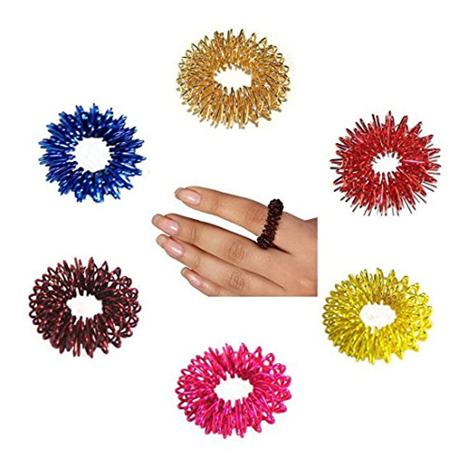 迷惑心臓に対応するBuycrafty 10 Pcs Acupressure Rings Massage Ring Massager relaxology, BEST High Density Deep Tissue Acupressure