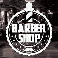 Ansyny ビニールウォールウィンドウデカール用理髪店ヘアサロンルーム装飾取り外し可能なショップサイン壁画ステッカー42 * 48センチ