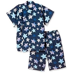 [タキヒヨー] 星柄甚平 342447202 ボーイズ ネイビー 日本 90 (日本サイズ90 相当)