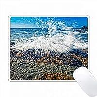 Point Loma Seashoreで波を破る PC Mouse Pad パソコン マウスパッド
