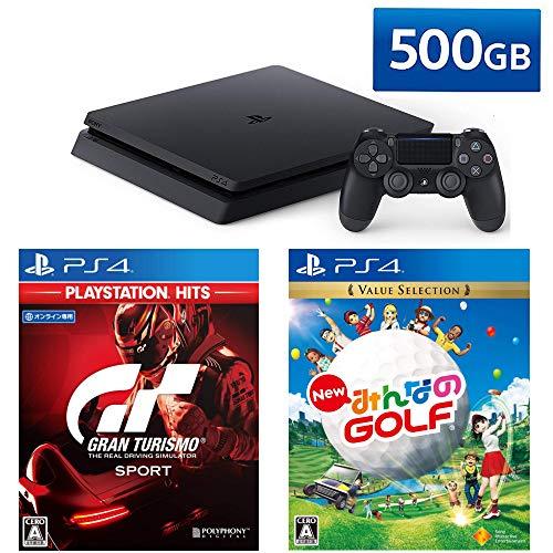 PlayStation 4 グランツーリスモSPORT New みんなのGOLF セット (ジェット・ブラック) (CUH-2200AB01)
