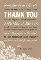 50 Wedding Kraft Thank You Place Cards Rehearsal Dinner Thank You Table Sign Menu Place Setting Card Notes Placement Thank You Note Favors For Family & Guests [並行輸入品]