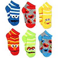 Sesame Street Boys Multi pack Socks (Toddler/Little Kid/Big Kid)