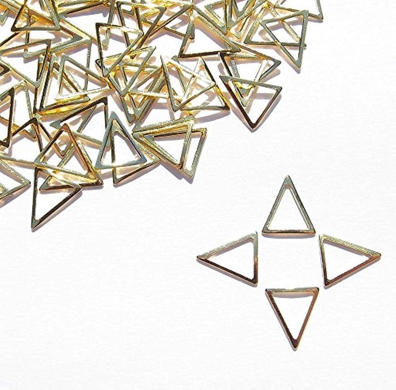 争いヶ月目偽善【jewel】メタルフレームパーツ トライアングル型 7mm×6mm 10枚入り ゴールド 金 (カーブ付きフラットタイプ)素材 材料 レジン ネイルアート パーツ 手芸