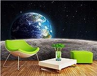 Bzbhart 3D壁画の壁紙シルク壁画宇宙惑星地球絵画 壁壁画壁紙用壁-450cmx300cm