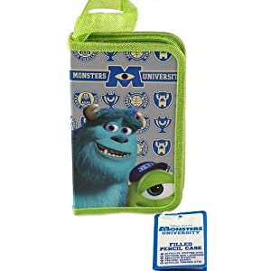 Disney Monsters University Sulley And Mike School Single Tier Filled Pencil Case by Disney [並行輸入品]