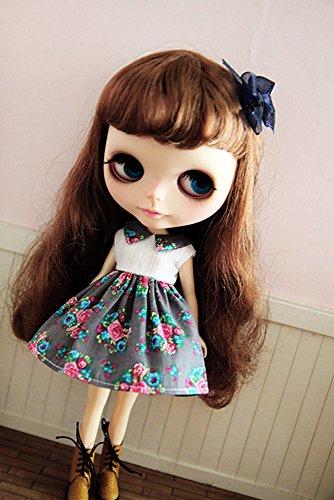 (ドーリア)Dollia ブライス 1/6ドール用 アウトフィット エレガント フラワー ノースリーブ サマードレス ワンピース 服 ネオブライス ドール 人形