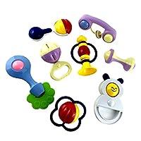 【ノーブランド品】 8個セット 幼児 赤ちゃん おしゃぶり おもちゃ プラスチック ベビー ラトル 発達 玩具 - 02