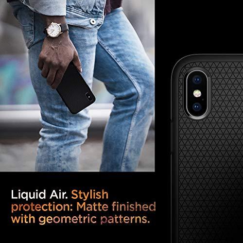 『【Spigen】 スマホケース iPhone XS Max ケース 6.5インチ 対応 TPU 米軍MIL規格取得 耐衝撃 リキッド・エアー 065CS25126 (マット・ブラック)』の3枚目の画像