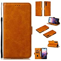 Abtory Huawei P20 Pro Leather Case,Colorful Wallet Case Card Holster Flip/Folio Soft TPU Cover Bumper with Kickstand Stand Protective Phone Cover for Huawei P20 Pro Yellow