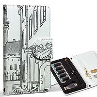 スマコレ ploom TECH プルームテック 専用 レザーケース 手帳型 タバコ ケース カバー 合皮 ケース カバー 収納 プルームケース デザイン 革 風景 景色 白 黒 009942