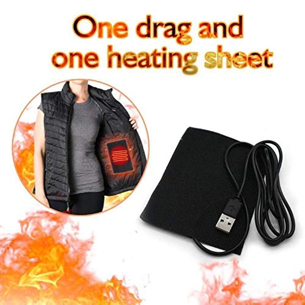 油集中的な予約Lucoss 8-in-1衣類電熱パッド、5ギア調整可能温度複合繊維加熱シート片、引っ張りに抵抗、USB充電冬ジャケット加熱ウォーマー