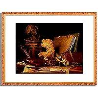 Vallayer-Coster, Anne,1744-1818「Die Attribute der Kunst. 1769.」インテリア アート 絵画 プリント 額装作品 フレーム:装飾(白) サイズ:L (412mm X 527mm)