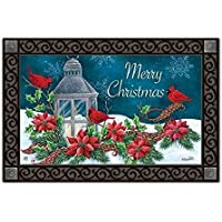 Cardinal Christmas Doormat Indoor Outdoor 18 x 30 MatMates [並行輸入品]