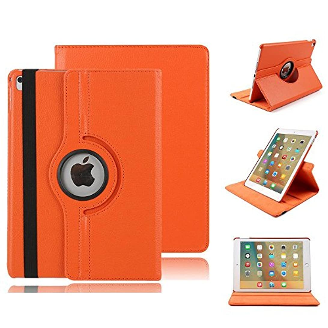 戦闘毒多数のhulorryクリアスマート軽量カバータフスリーブ防水ケースドロップ保護頑丈な保護人気カバー iPad Air オレンジ HL-IPAD5-360LZW-O